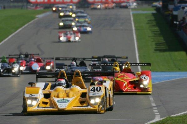 Miguel Amaral (POR) / Miguel Angel de Castro (ESP) / Angel Burgueno (ESP) ASM Team Racing For Portugal Lola B05/40 AER.Le Mans Series, Rd4, Donington Park, England, 28 August 2006.DIGITAL IMAGE