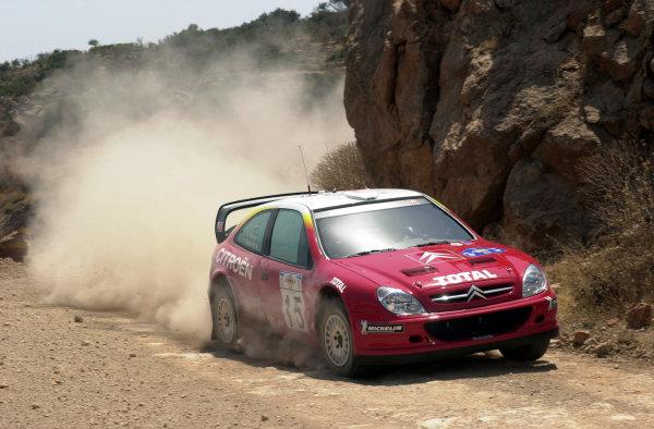 2001 World Rally Championship.Acropolis Rally June 14-17, 2001.Thomas Radstrom during the shakedown.Photo: Ralph Hardwick/LAT