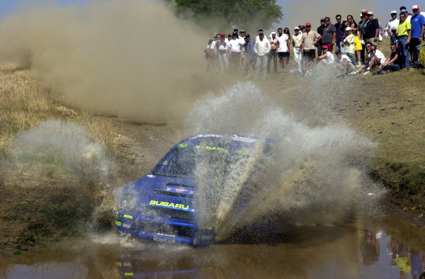 2001 World Rally Championship.Acropolis Rally June 14-17, 2001.Petter Solberg on the final stage.Photo: Ralph Hardwick/LAT