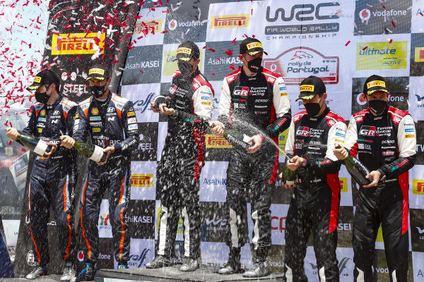 Elfyn Evans (GB), Scott Martin (GB), Toyota Gazoo Racing WRT, Toyota Yaris WRC 2021, Sébastien Ogier (FRA), Julien Ingrassia (FRA), Dani Sordo (ESP), Hyundai World Rally Team, Hyundai i20 Coupe WRC 2021