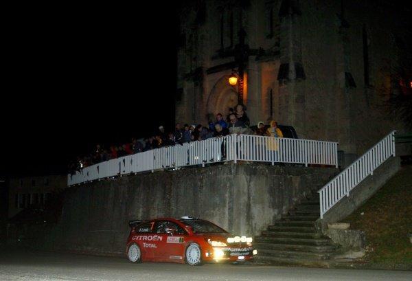 FIA World Rally Championship, Rd1, January 18-21, 2007 Rallye Monte Carlo, Valence, France. Leg 1, Thursday January 18, 2007. Sebastien Loeb (FRA) on stage 1. DIGITAL IMAGE