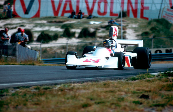1975 Dutch Grand Prix.Zandvoort, Holland. 20-22 June 1975.James Hunt (Hesketh 308 Ford) 1st position. This was his and the team's maiden Grand Prix win. It was also Hesketh's only Grand Prix victory. Ref-75 HOL 21.World Copyright - LAT Photographic