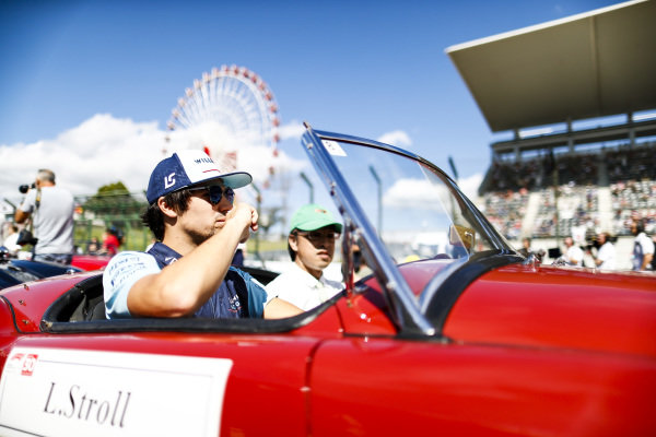 Lance Stroll, Williams Racing, on the drivers parade