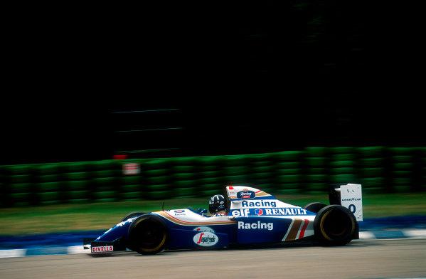 1994 German Grand Prix.Hockenheim, Germany.29-31 July 1994.Damon Hill (Williams FW16B Renault) 8th position.Ref-94 GER 30.World Copyright - LAT Photographic