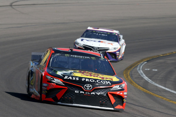 #19: Martin Truex Jr., Joe Gibbs Racing, Toyota Camry Bass Pro Shops #11: Denny Hamlin, Joe Gibbs Racing, Toyota Camry FedEx Freight