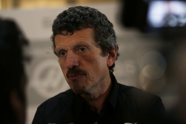 Guenther Steiner, Team Principal, Haas F1 speaks with the media
