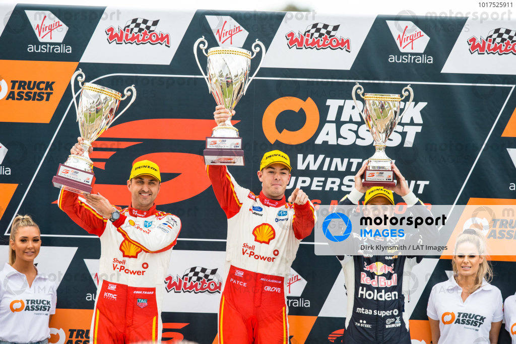 Fabian Coulthard, DJR Team Penske Ford, Scott McLaughlin, DJR Team Penske Ford, Jamie Whincup, Triple Eight Race Engineering Holden