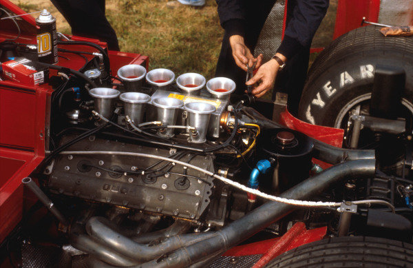 1979 Canadian Grand Prix.Montreal, Quebec, Canada.28-30 September 1979.A Ford DFV V8 engine in the back of a Brabham BT49.Ref-79 CAN 11.World Copyright - LAT Photographic