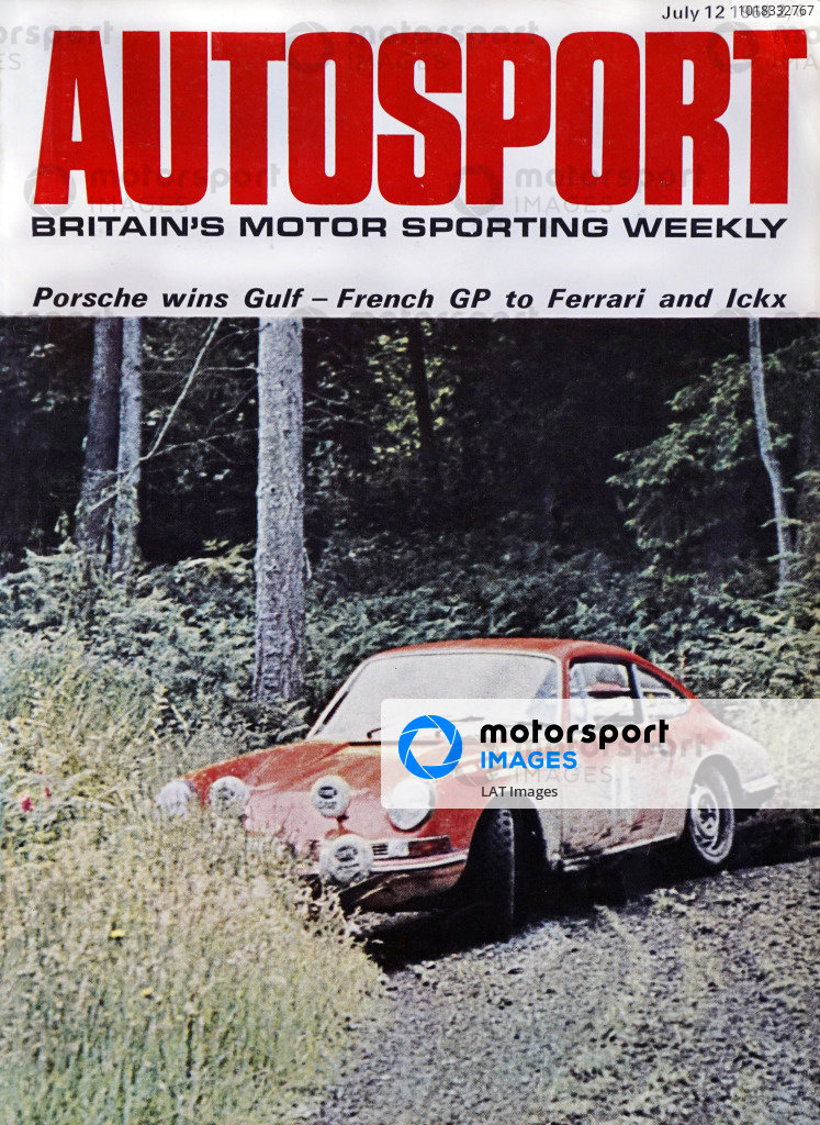 Cover of Autosport magazine, 12th July 1968