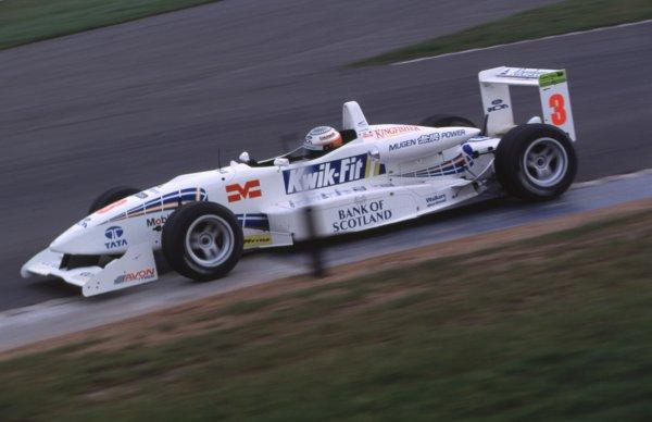 Press Day. Narain Karthikeyan, Stewart Racing - action. Donington, England 15/3/2000. World - BLOXHAM/LAT Photographic