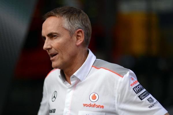 Martin Whitmarsh (GBR) McLaren Chief Executive Officer.Formula One World Championship, Rd9, German Grand Prix, Qualifying, Nurburgring, Germany, Saturday 6 July 2013.