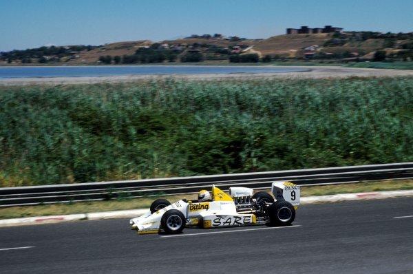 Race winner Pierluigi Martini (ITA) FIRST Racing March 88B. International Formula 3000 Championship, Rd 6, Enna-Pergusa, Italy, 17 July 1988.