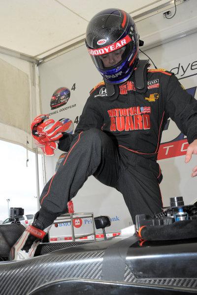 30 June-3 July, 2016, Lexington, Ohio USA Michael Goodyear, son of former IndyCar driver Scott Goodyear, climbing in car before race #2 on Sunday ©2016, Dan R, Boyd LAT Photo USA