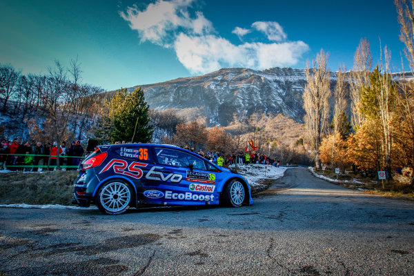 2016 FIA World Rally Championship, Round 01, Rally Monte Carlo, 21st - 24th January, 2016 Elfyn Evans, Ford, action Worldwide Copyright: McKlein/LAT