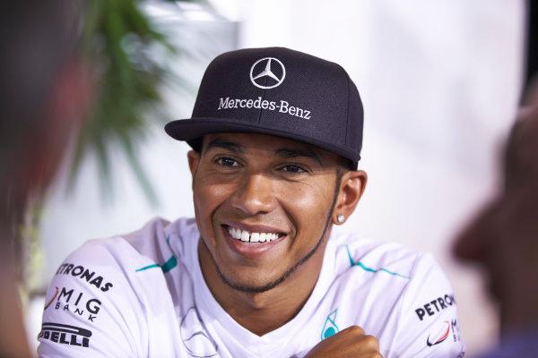 Marina Bay Circuit, Singapore. 19th September 2013. Lewis Hamilton, Mercedes AMG. World Copyright: Steve Etherington/LAT Photographic. ref: Digital Image SNE28305 copy