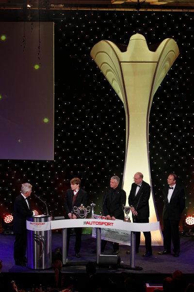 2013 Autosport Awards. Grosvenor House Hotel, Park Lane, London. Sunday 1st December 2013. Matt Parry, receives 2013 McLaren Autosport BRDC Award World Copyright: Glenn Dunbar/LAT Photographic. ref: Digital Image _G7C5788
