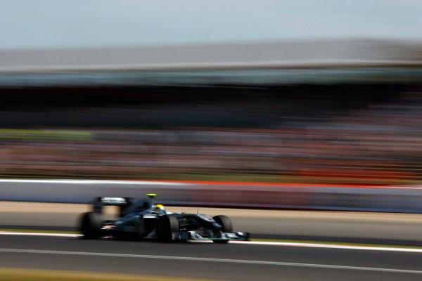 Silverstone, Northamptonshire, England9th July 2010Nico Rosberg, Mercedes GP W01. Action. World Copyright: Charles CoatesLAT Photographicref: Digital Image _26Y0767