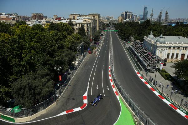 Baku City Circuit, Baku, Azerbaijan. Friday 23 June 2017. Marcus Ericsson, Sauber C36 Ferrari. World Copyright: Charles Coates/LAT Images ref: Digital Image AX0W5386