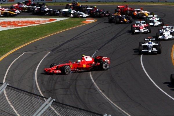 Felipe Massa (BRA) Ferrari F2008 spins off. Australian Grand Prix, Rd 1, Race, Albert Park, Melbourne, Australia, Sunday 16 March 2008. BEST IMAGE