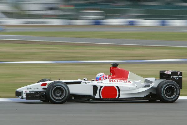 2003 British Grand Prix - Fridayl Qualifying,Silverstone, Britain. 18th July 2003 Jenson Button, B-A-R Honda 005, action.World Copyright LAT Photographic.Digital Image Only.