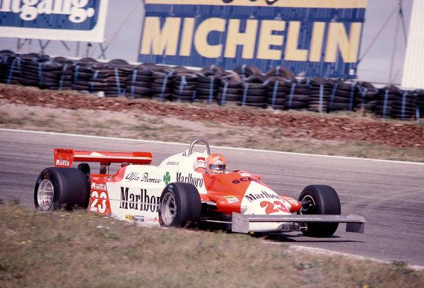 1981 Dutch Grand Prix.Zandvoort, Holland.28-30 August 1981.Bruno Giacomelli (Alfa Romeo 179C).Ref-81 HOL 36.World Copyright - LAT Photographic