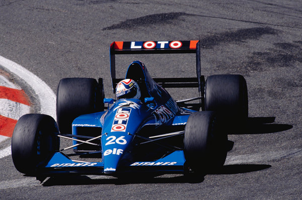 1990 Belgian Grand Prix.Spa-Francorchamps, Belgium.23-25 August 1990.Philippe Alliot (Ligier JS33B Ford).Ref-90 BEL 18.World Copyright - LAT Photographic
