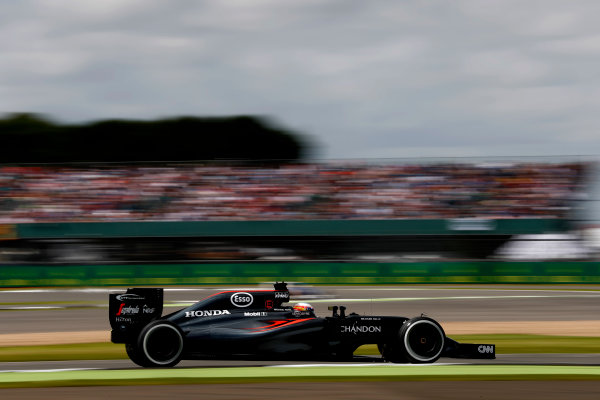 Silverstone, Northamptonshire, UK Friday 08 July 2016. Fernando Alonso, McLaren MP4-31 Honda. World Copyright: Glenn Dunbar/LAT Photographic ref: Digital Image _V2I6575