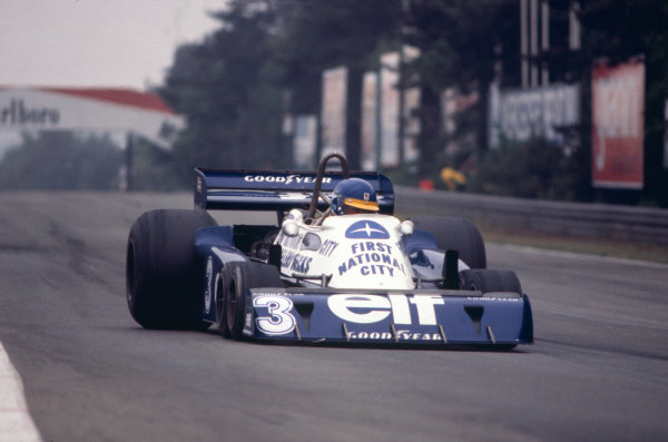 Zolder, Belgium. 3-5 June 1977. Ronnie Peterson (Tyrrell P34 Ford), action. World Copyright - LAT Photographic Ref: 77BEL23