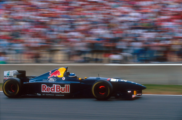 Magny-Cours, France.30/6-2/7 1995.Jean-Christophe Boullion (Sauber C14 Ford). He exited the race with transmission failure.Ref-95 FRA 14.World Copyright - LAT Photographic