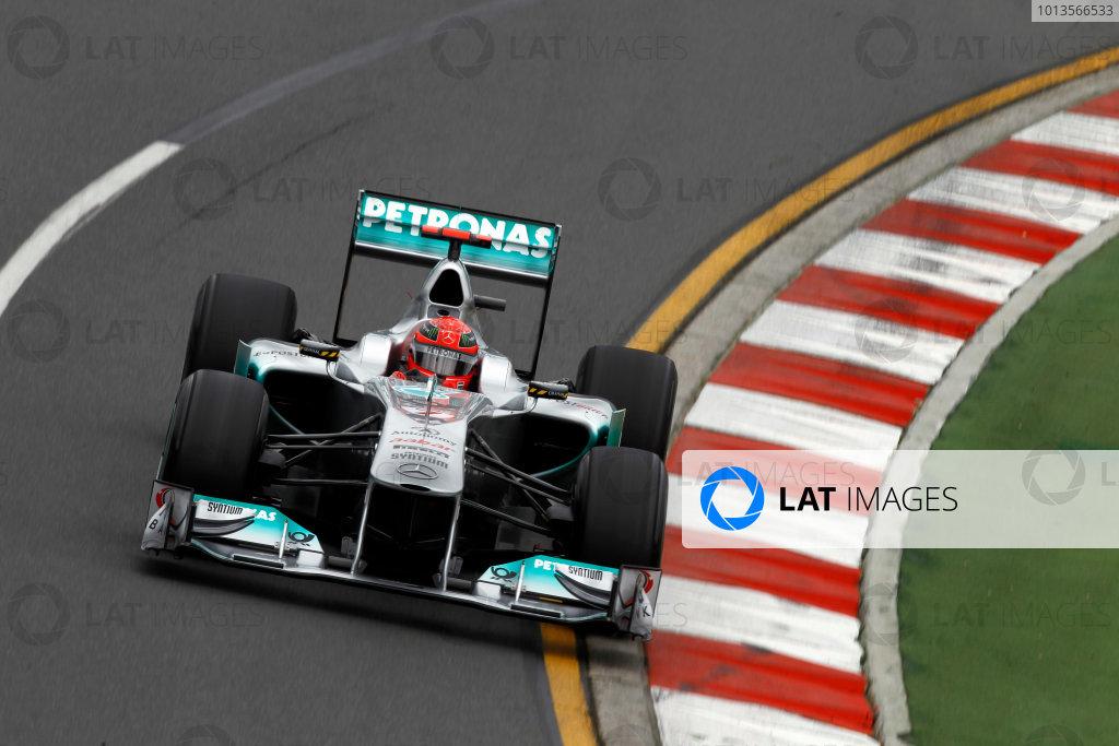 Albert Park, Melbourne, Australia25th March 2011.Michael Schumacher, Mercedes GP W02. Action. World Copyright: Andrew Ferraro/LAT Photographicref: Digital Image _Q0C7888