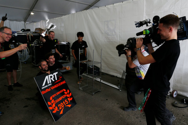 2015 GP2 Series Round 9. Sochi Autodrom, Sochi, Russia. Sunday 11 October 2015. Stoffel Vandoorne (BEL, ART Grand Prix)  World Copyright: Zak Mauger/LAT Photographic ref: Digital Image _L0U9300