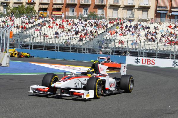 Valencia Street Circuit, Valencia, Spain.  24th June 2012. Sunday Race. Tom Dillmann (FRA, Rapax). Action. Photo: Andrew Ferraro/GP2 Media Service. Ref: Digital Image _Q0C9849.jpg