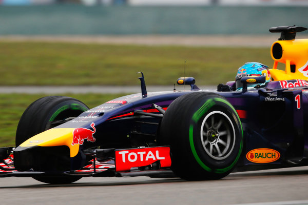 Shanghai International Circuit, Shanghai, China. Saturday 19 April 2014. Sebastian Vettel, Red Bull Racing RB10 Renault. World Copyright: Charles Coates/LAT Photographic. ref: Digital Image _N7T2753