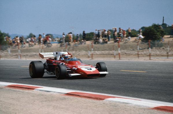 1971 French Grand Prix.  Paul Ricard, Le Castellet, France. 2nd-4th July 1971.  Clay Regazzoni, Ferrari 312B2.  Ref: 71FRA68. World Copyright: LAT Photographic