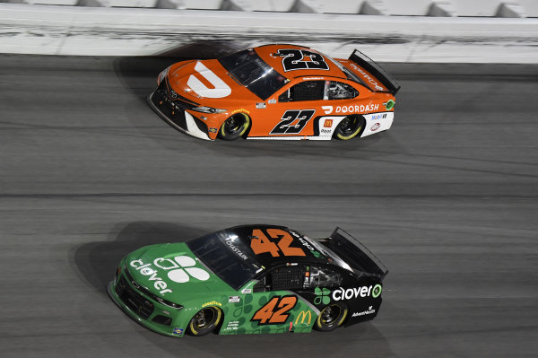 #42: Ross Chastain, Chip Ganassi Racing, Chevrolet Camaro Clover #23: Bubba Wallace, 23XI Racing, Toyota Camry