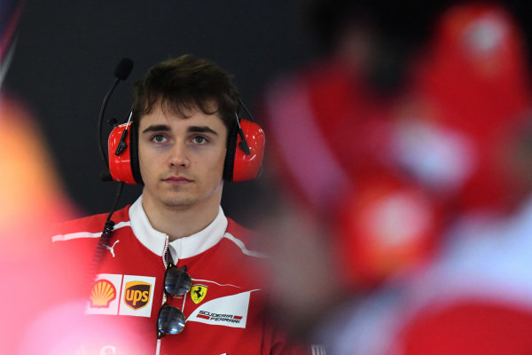 Charles Leclerc (MON) Ferrari Young Driver at Formula One World Championship, Rd2, Chinese Grand Prix, Practice, Shanghai, China, Friday 7 April 2017.