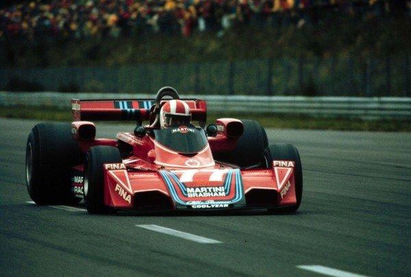 1976 German Grand Prix. Nurburgring, Germany. 30/7-1/8 1976. Rolf Stommelen (Brabham BT45 Alfa Romeo), 6th position. World Copyright - LAT Photographic
