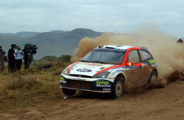 2002 World Rally Championship.Safari Rally, Nairobi Kenya, July 11-14th.Carlos Sainz on section 5.Photo: Ralph Hardwick/LAT