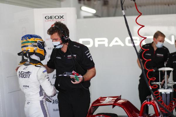 Sergio Sette Camara (BRA) Dragon Penske Autosport, in the garage