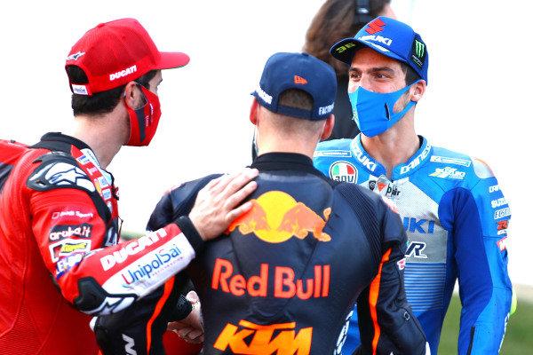 Andrea Dovizioso, Ducati Team, Brad Binder, Red Bull KTM Factory Racing, Joan Mir, Team Suzuki MotoGP