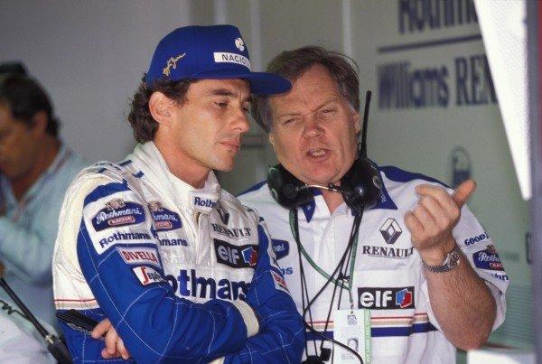 Ayrton Senna and Patrick Head.