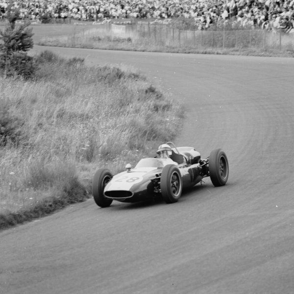 1961 German Grand Prix, Nurburgring, Germany.Jackie Lewis (Cooper T53-Climax), 9th position.Ref-9805.World - LAT Photographic