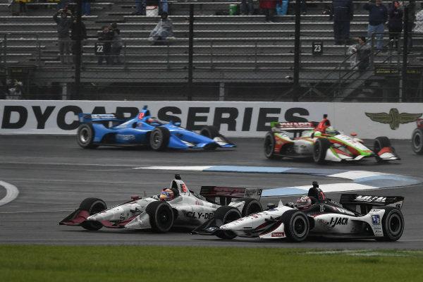 Santino Ferrucci, Dale Coyne Racing Honda, Graham Rahal, Rahal Letterman Lanigan Racing Honda
