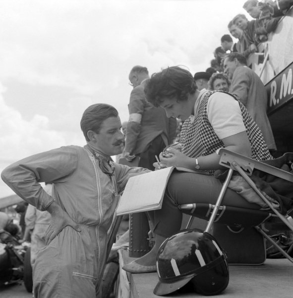 Graham Hill with Bette Hill.