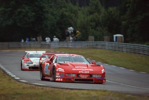 1995 Le Mans 24 Hours. Le Mans, France. 17th - 18th June 1995. John Paul, Jr./Chris McDougall/James Mero (Chevrolet Corvette ZR-1), retired, action.  World Copyright: LAT Photographic. Ref:  95LM30