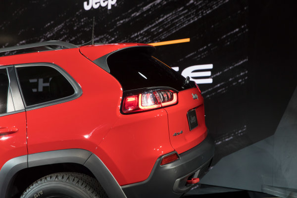2019 Jeep Cherokee debuts at the 2018 North American International Auto Show in Detroit.