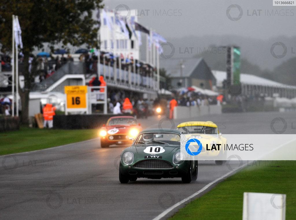 Goodwood Estate, West Sussex, 15th - 18th September 2011 RAC Tourist Trophy Beecroft/Tony Dron, Aston Martin DB4GT Zagato. World Copyright:Jeff Bloxham/LAT Photographic Ref: Digital Image