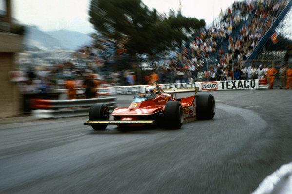 Monte Carlo, Monaco.24-27 May 1979.Jody Scheckter (Ferrari 312T4) 1st position, action.World Copyright: LAT Photographic.Ref:  79MON a