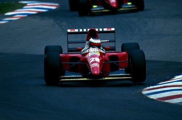 Gerhard Berger (AUT) Ferrari F93A finished sixth. German Grand Prix, Hockenheim, 25 July 1993