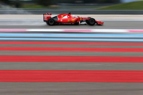 Paul Ricard, France. Tuesday 26 January 2016. Sebastian Vettel, Ferrari SF15-T. World Copyright: Steven Tee/LAT Photographic ref: Digital Image _X0W8017